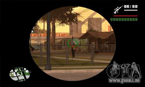 GTA V Sniper Scope für GTA San Andreas dritten Screenshot