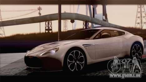Aston Martin V12 Zagato 2012 [IVF] pour GTA San Andreas vue arrière