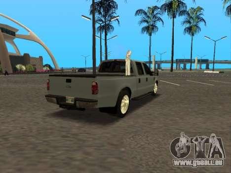 Ford F-350 pour GTA San Andreas vue arrière
