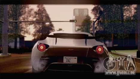 Aston Martin V12 Zagato 2012 [IVF] pour GTA San Andreas laissé vue