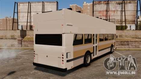 Bus touristique pour GTA 4 Vue arrière de la gauche