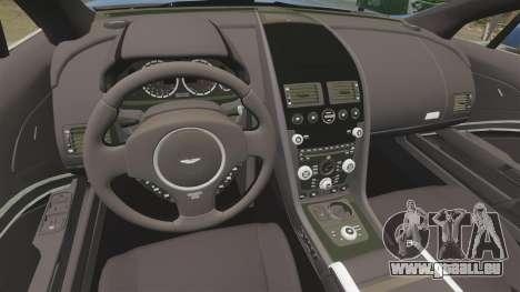 Aston Martin Rapide 2010 pour GTA 4 est une vue de l'intérieur