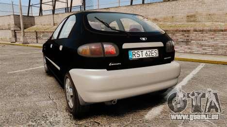 Daewoo Lanos Style 2001 Limited version für GTA 4 hinten links Ansicht