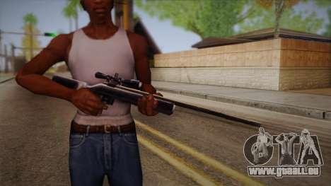 Fusil de sniper de Max Payn pour GTA San Andreas troisième écran