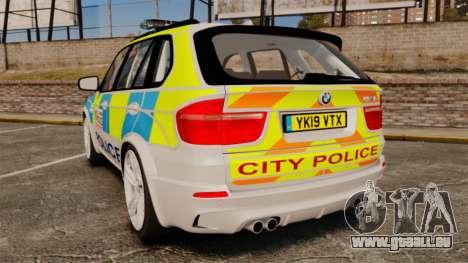 BMW X5 Police [ELS] pour GTA 4 Vue arrière de la gauche