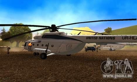 MI 8 des Nations Unies (ONU) pour GTA San Andreas vue de droite