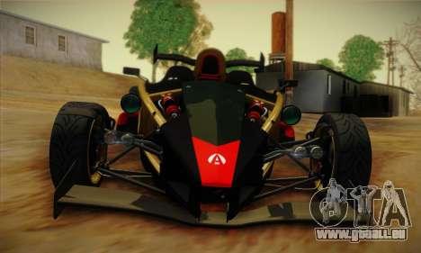 Ariel Atom 500 2012 V8 pour GTA San Andreas vue intérieure