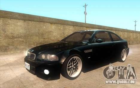 BMW M3 e46 Duocolor Edit pour GTA San Andreas vue intérieure