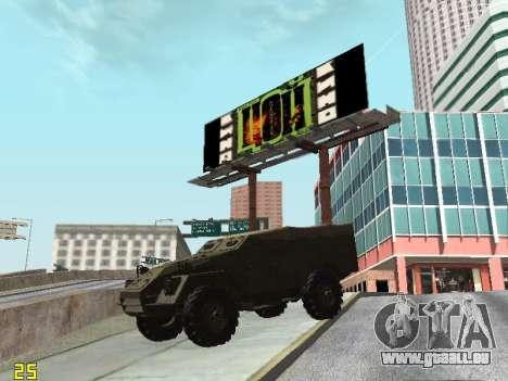 BTR-40 pour GTA San Andreas vue de côté