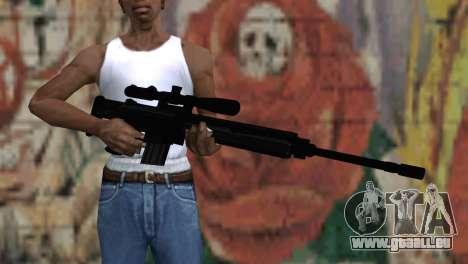 Snajperckaâ fusil noir pour GTA San Andreas troisième écran