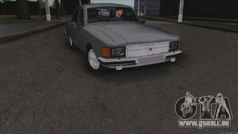 GAZ Volga 3102 pour GTA San Andreas vue de dessus