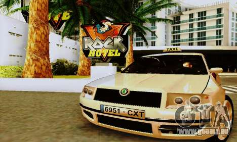 Skoda Superb 2.2 Spanish TAXI für GTA San Andreas linke Ansicht