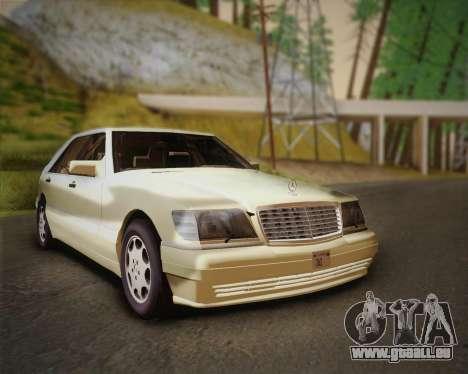 Mercedes-Benz S600 V12 Custom für GTA San Andreas zurück linke Ansicht