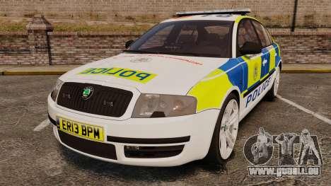 Skoda Superb 2006 Police [ELS] Whelen Justice für GTA 4