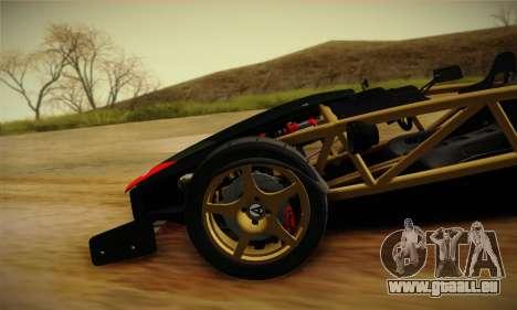 Ariel Atom 500 2012 V8 für GTA San Andreas obere Ansicht