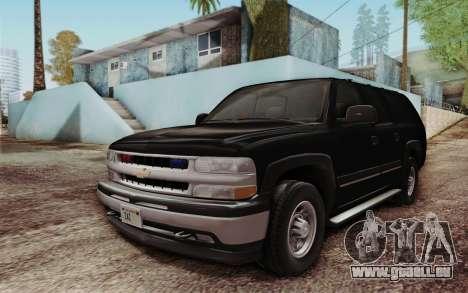 Chevrolet Suburban FBI für GTA San Andreas linke Ansicht