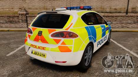 Seat Cupra Metropolitan Police [ELS] pour GTA 4 Vue arrière de la gauche