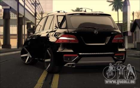 Mercedes-Benz ML63 AMG für GTA San Andreas zurück linke Ansicht