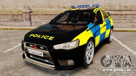 Mitsubishi Lancer Evolution X Uk Police [ELS] für GTA 4