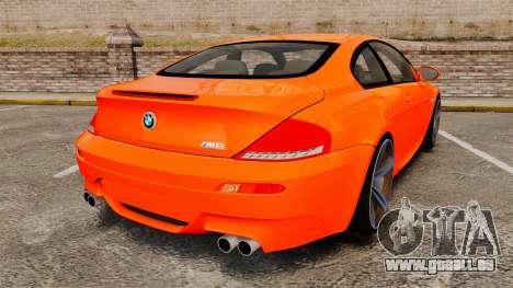 BMW M6 pour GTA 4 Vue arrière de la gauche