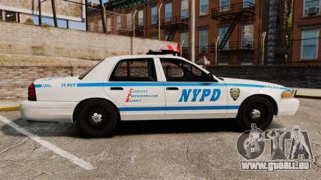 Ford Crown Victoria 1999 NYPD für GTA 4 linke Ansicht