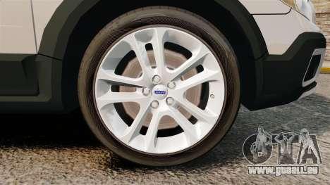 Volvo XC70 Unmarked [ELS] für GTA 4 Rückansicht