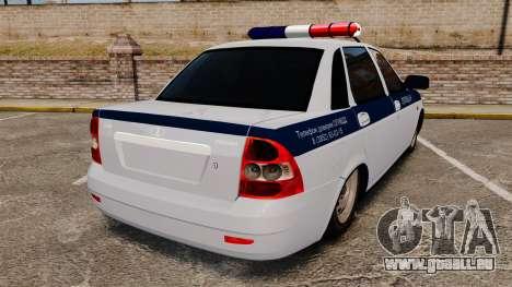 2170 Vaz-Lada Priora DPS pour GTA 4 Vue arrière de la gauche