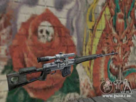 Fusil de sniper de S.T.A.L.K.E.R. pour GTA San Andreas deuxième écran