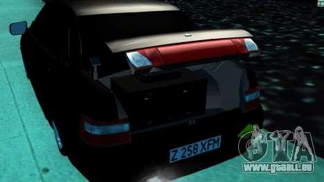 VAZ 2110 Kazakhstan pour GTA San Andreas sur la vue arrière gauche