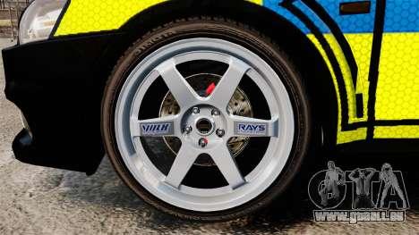 Mitsubishi Lancer Evolution X Uk Police [ELS] für GTA 4 Rückansicht