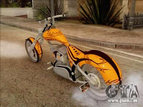 Sons Of Anarchy Chopper Motorcycle für GTA San Andreas linke Ansicht
