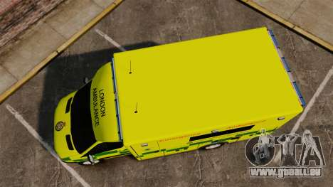 Mercedes-Benz Sprinter [ELS] London Ambulance pour GTA 4 est un droit