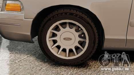 Ford Crown Victoria 1999 pour GTA 4 est une vue de l'intérieur