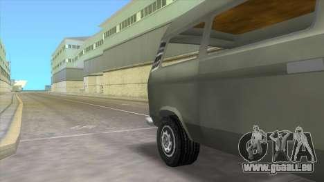 Volkswagen Transporter T3 pour GTA Vice City sur la vue arrière gauche