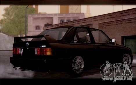 BMW M3 E30 Stock Version pour GTA San Andreas sur la vue arrière gauche