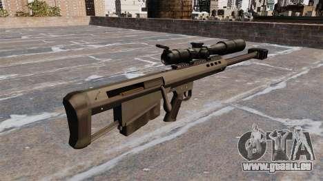 Fusil de précision Barrett M95 pour GTA 4 secondes d'écran