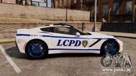 Chevrolet Corvette C7 Stingray 2014 Police für GTA 4 linke Ansicht