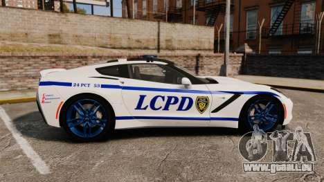 Chevrolet Corvette C7 Stingray 2014 Police pour GTA 4 est une gauche