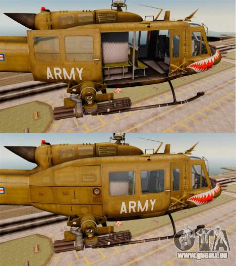 Bell UH-1 Iroquois v2.0 Gunship [EPM] pour GTA 4 est une vue de dessous