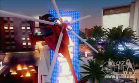 Buse attaque Chopper de GTA 5 pour GTA San Andreas vue de dessous