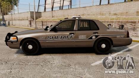Ford Crown Victoria 2008 Sheriff Traffic [ELS] pour GTA 4 est une gauche