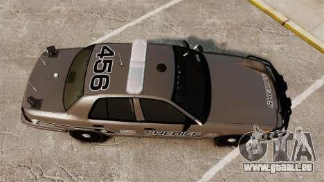 Ford Crown Victoria 2008 Sheriff Traffic [ELS] pour GTA 4 est un droit