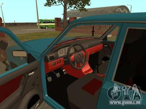 GAZ 3110 Wolga für GTA San Andreas Rückansicht