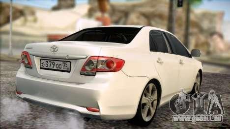 Toyota Corolla 2012 für GTA San Andreas rechten Ansicht