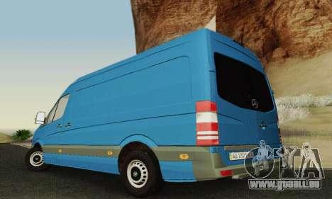 Mersedes-Benz Sprinter für GTA San Andreas obere Ansicht