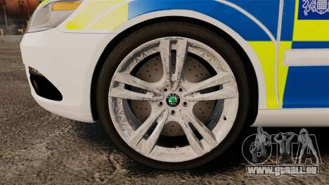 Skoda Octavia RS Metropolitan Police [ELS] pour GTA 4 Vue arrière
