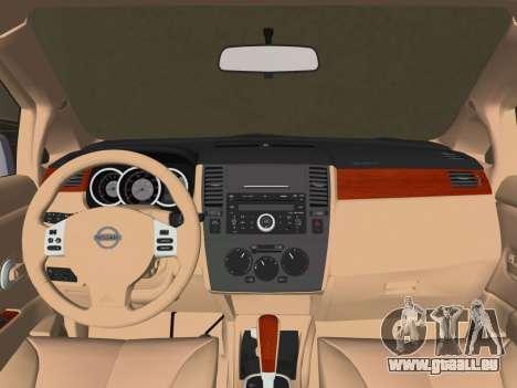 Nissan Tiida für GTA Vice City zurück linke Ansicht