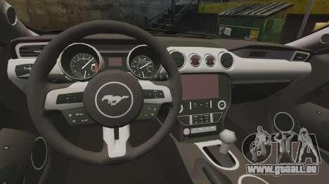 Ford Mustang GT 2015 Police für GTA 4 Rückansicht