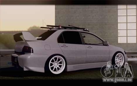 Mitsubishi Lancer Evolution Stance für GTA San Andreas linke Ansicht