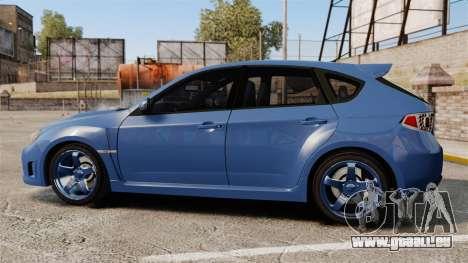 Subaru Impreza 2010 pour GTA 4 est une gauche